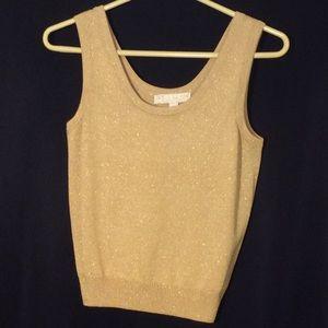 Gold Sparkley St. John's Knit Tank Top
